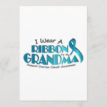 I Wear Teal For My Grandma Ovarian Cancer Awarenes