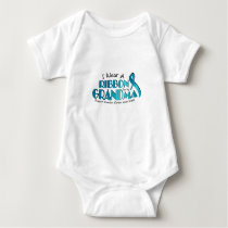 I Wear Teal For My Grandma Ovarian Cancer Awarenes Baby Bodysuit