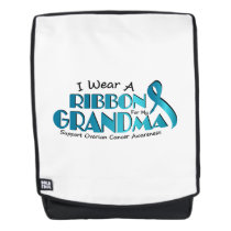 I Wear Teal For My Grandma Ovarian Cancer Awarenes Backpack