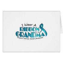 I Wear Teal For My Grandma Ovarian Cancer Awarenes Card