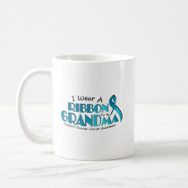 I Wear Teal For My Grandma Ovarian Cancer Awarenes Coffee Mug
