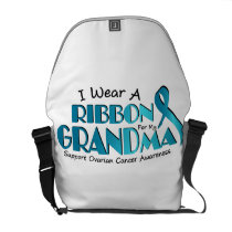I Wear Teal For My Grandma Ovarian Cancer Awarenes Courier Bag