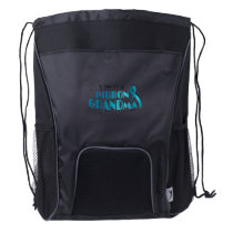 I Wear Teal For My Grandma Ovarian Cancer Awarenes Drawstring Backpack