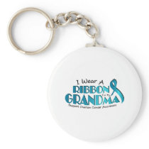 I Wear Teal For My Grandma Ovarian Cancer Awarenes Keychain