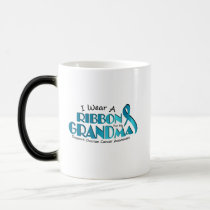 I Wear Teal For My Grandma Ovarian Cancer Awarenes Magic Mug