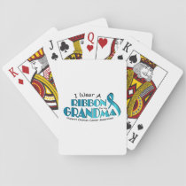 I Wear Teal For My Grandma Ovarian Cancer Awarenes Playing Cards