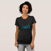 I Wear Teal For My Grandma Ovarian Cancer Awarenes T-Shirt