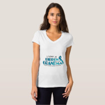 I Wear Teal For My Grandma Ovarian Cancer Awarenes T-Shirt