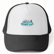 I Wear Teal For My Grandma Ovarian Cancer Awarenes Trucker Hat