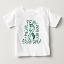 I Wear Teal for my Grandma.png Baby T-Shirt
