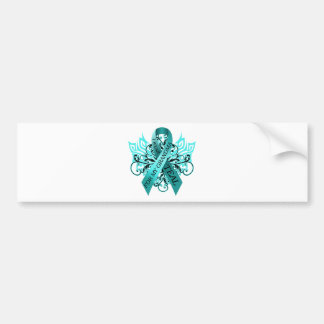 I Wear Teal for my Grandma.png Bumper Sticker