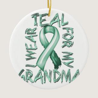 I Wear Teal for my Grandma.png Ceramic Ornament