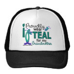 I Wear Teal For My Grandmother 27 Ovarian Cancer Hat