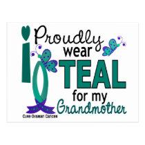 I Wear Teal For My Grandmother 27 Ovarian Cancer Postcard