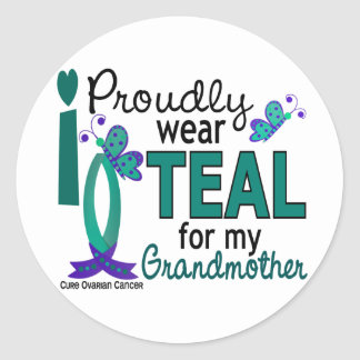 I Wear Teal For My Grandmother 27 Ovarian Cancer Sticker