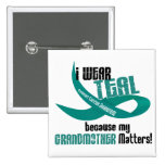 I Wear Teal For My Grandmother 33 T-Shirts & Gifts Button
