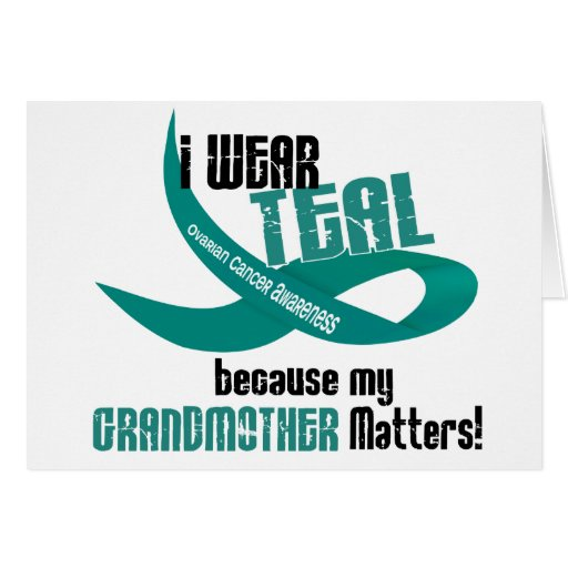 I Wear Teal For My Grandmother 33 T-Shirts & Gifts Cards