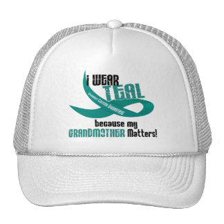 I Wear Teal For My Grandmother 33 T-Shirts & Gifts Trucker Hat