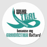 I Wear Teal For My Grandmother 33 T-Shirts & Gifts Sticker