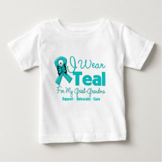 I Wear Teal For My Great-Grandma Baby T-Shirt