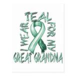 I Wear Teal for my Great Grandma.png Postcard