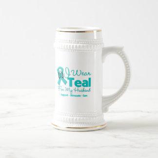 I Wear Teal For My Husband Mugs