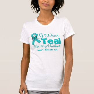 I Wear Teal For My Husband Shirts