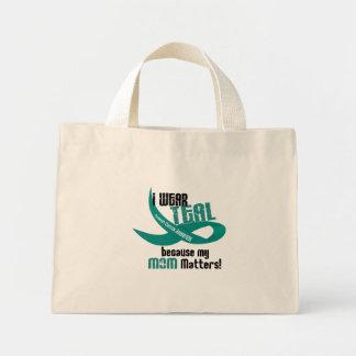 I Wear Teal For My Mom 33 OVARIAN CANCER T-Shirts Mini Tote Bag