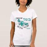 I Wear Teal For My Mom 45 Ovarian Cancer Shirt