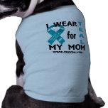 I wear TEAL for my mom dogie shirt. Dog Tee