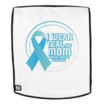 I Wear Teal For My Mom Ovarian Cancer Awareness Backpack