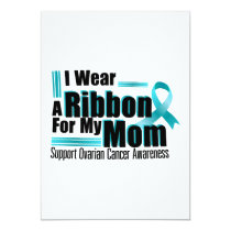 I Wear Teal For My Mom Ovarian Cancer Awareness Card
