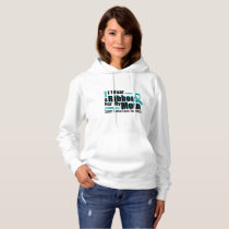 I Wear Teal For My Mom Ovarian Cancer Awareness Hoodie