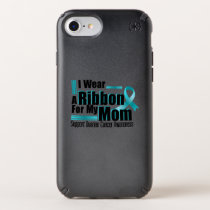I Wear Teal For My Mom Ovarian Cancer Awareness Speck iPhone Case