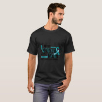I Wear Teal For My Mom Ovarian Cancer Awareness T-Shirt
