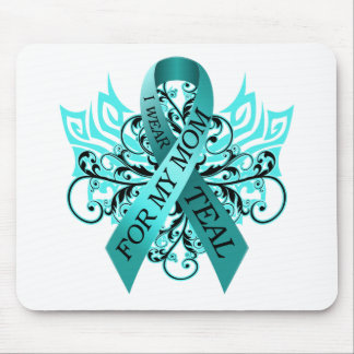 I Wear Teal for my Mom.png Mouse Pad