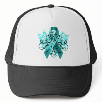 I Wear Teal for my Mom.png Trucker Hat