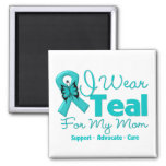 I Wear Teal For My Mom Refrigerator Magnets