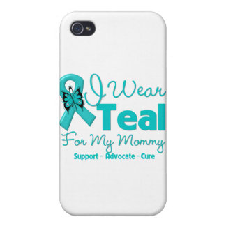 I Wear Teal For My Mommy iPhone 4 Cover