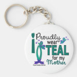I Wear Teal For My Mother 27 Ovarian Cancer Key Chains