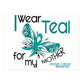 I Wear Teal For My Mother 45 Ovarian Cancer Postcard