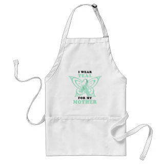 I Wear Teal for my Mother Adult Apron