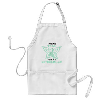 I Wear Teal for my Mother-In-Law Adult Apron