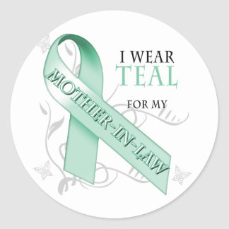 I Wear Teal for my Mother-In-Law Classic Round Sticker