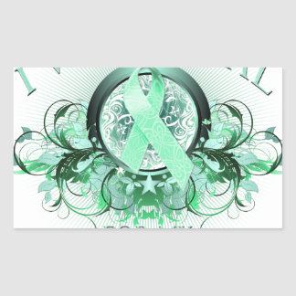 I Wear Teal for my Mother In Law (floral).png Rectangular Sticker