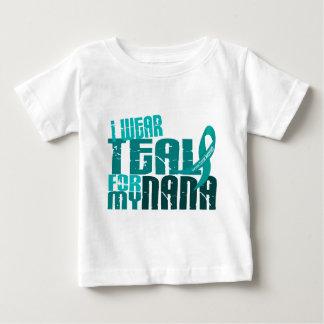 I Wear Teal For My Nana 6.4 Ovarian Cancer Baby T-Shirt