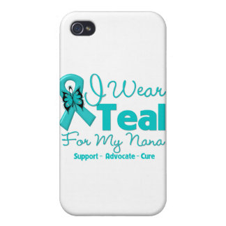 I Wear Teal For My Nana iPhone 4 Covers