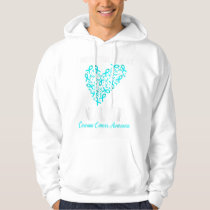 I Wear Teal For My Nana Ovarian Cancer Aware Hoodie