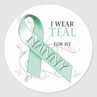 I Wear Teal for my Nanny Classic Round Sticker