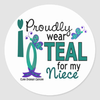 I Wear Teal For My Niece 27 Ovarian Cancer Stickers